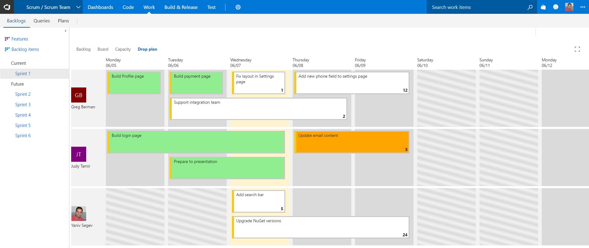 Sprint Drop Plan - Visual Studio Marketplace